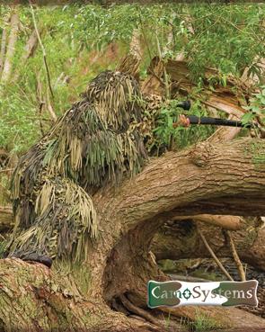 Маскировочный костюм Ghillie Jackal.  Материал: 100% полиэстер.  Производство: CAMO SYSTEMS (Новая Зеландия).